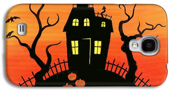 Haunted House Paintings Galaxy S4 Cases - Haunted House part one Galaxy S4 Case by Linda Mears