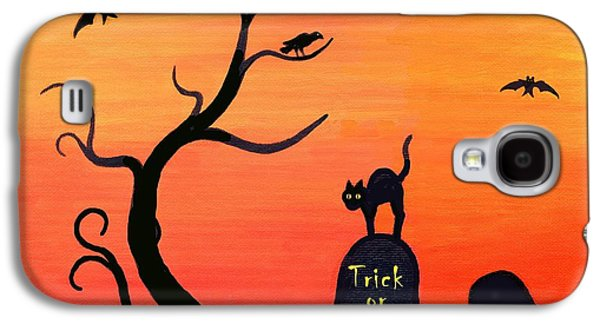 Haunted House Paintings Galaxy S4 Cases - Haunted House part two Galaxy S4 Case by Linda Mears