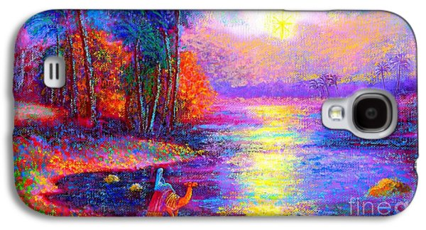 Visionary Paintings Galaxy S4 Cases - Haunting Star Galaxy S4 Case by Jane Small