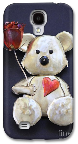 Floral Sculptures Galaxy S4 Cases - Have a Heart Teddy Bear Galaxy S4 Case by Melody Ballard
