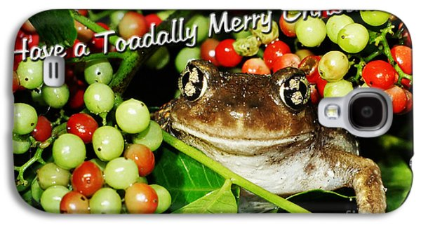 Have A Toadally Merry Christmas Galaxy S4 Case by Lynda Dawson-Youngclaus