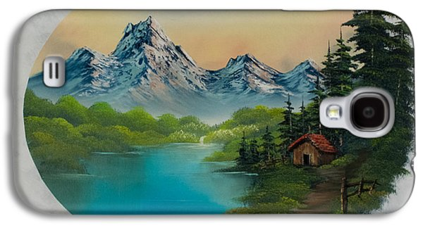 Recently Sold -  - Bob Ross Paintings Galaxy S4 Cases - Cabin in the Valley Galaxy S4 Case by C Steele