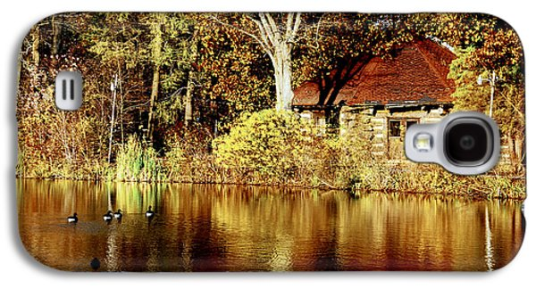 Haverford College Galaxy S4 Cases - Haverford College Lake Galaxy S4 Case by Judy Gallagher