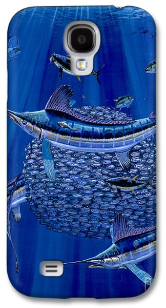 Striped Marlin Galaxy S4 Cases - Having a ball Off0078 Galaxy S4 Case by Carey Chen