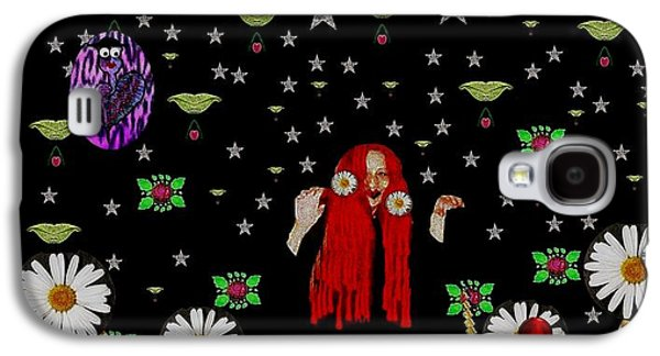 Fairies Mixed Media Galaxy S4 Cases - Having Fun In the Beautiful dark forest Galaxy S4 Case by Pepita Selles