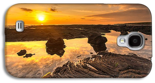 Refuge Galaxy S4 Cases - Hawaii Lava Tidepools Serenity Galaxy S4 Case by Mike Reid