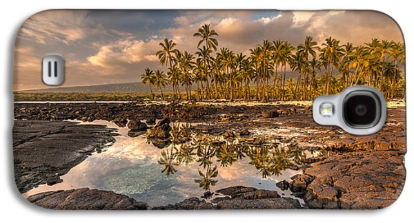 Refuge Galaxy S4 Cases - Hawaii Place of Refuge Tidepools Sunset Galaxy S4 Case by Mike Reid