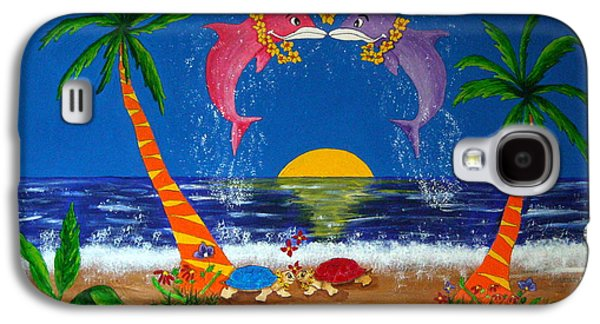 Animation Galaxy S4 Cases - Hawaiian Island Love Galaxy S4 Case by Pamela Allegretto