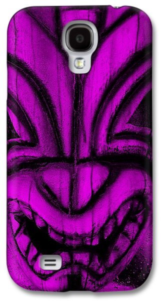 Statue Portrait Galaxy S4 Cases - Hawaiian Purple Mask Galaxy S4 Case by Rob Hans