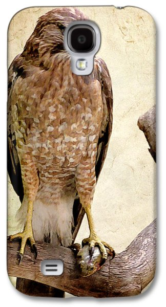 Ray Downing Galaxy S4 Cases - Hawk with Fish Galaxy S4 Case by Ray Downing