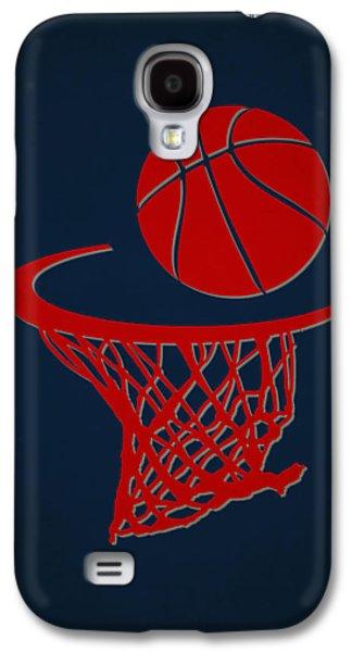 3 Pointer Galaxy S4 Cases - Hawks Team Hoop2 Galaxy S4 Case by Joe Hamilton