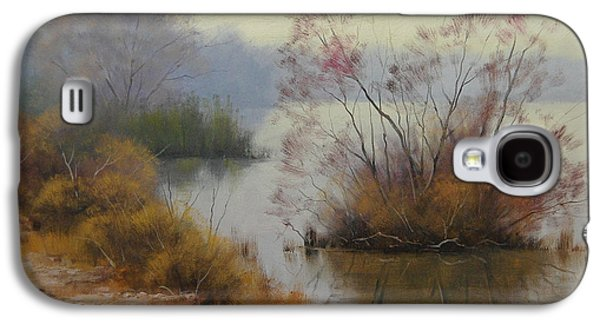 Beautiful Creek Paintings Galaxy S4 Cases - Hawksbury River Painting Galaxy S4 Case by Graham Gercken