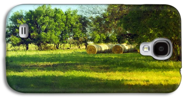 Hay Bales Paintings Galaxy S4 Cases - Hay Bales  Galaxy S4 Case by Ann Powell