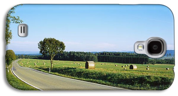 Hay Bales Galaxy S4 Cases - Hay Bales In A Field, Germany Galaxy S4 Case by Panoramic Images