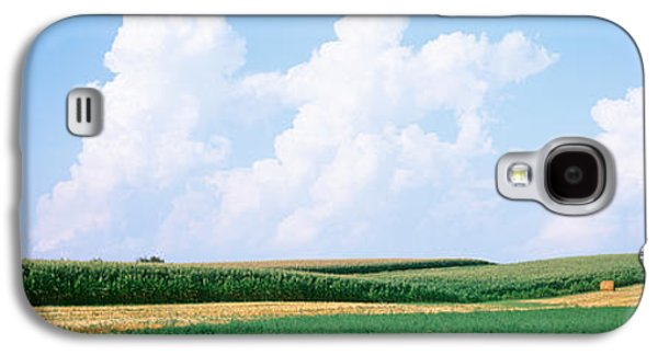 Daviess County Galaxy S4 Cases - Hay Bales In A Field, Jo Daviess Galaxy S4 Case by Panoramic Images
