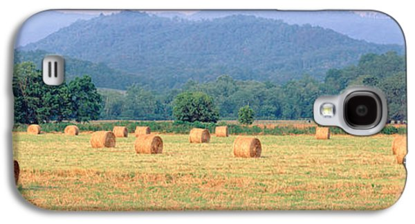 Hay Bales Galaxy S4 Cases - Hay Bales In A Field, Murphy, North Galaxy S4 Case by Panoramic Images