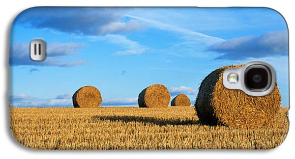 Hay Bales Galaxy S4 Cases - Hay Bales, Scotland, United Kingdom Galaxy S4 Case by Panoramic Images