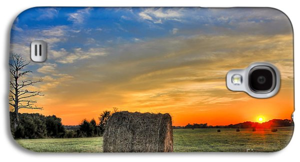 Haybale Galaxy S4 Cases - Hay Down Sunset Galaxy S4 Case by Reid Callaway