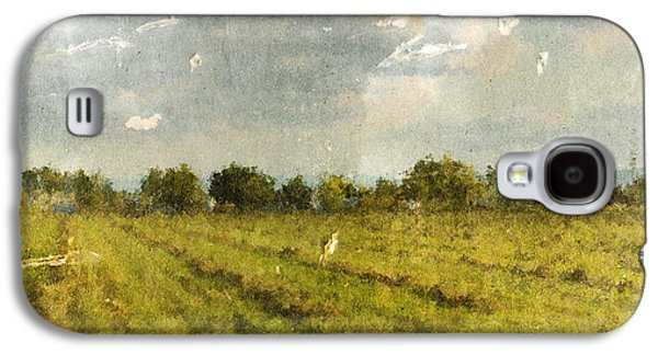 Hay Fields In September Galaxy S4 Case by Brett Pfister