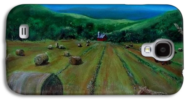 Haybale Mixed Media Galaxy S4 Cases - Hay Harvest Galaxy S4 Case by Joan Mace
