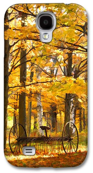 Autumn Scene Galaxy S4 Cases - Hay Rake At Rest Galaxy S4 Case by Christopher Arndt