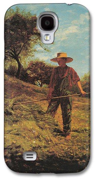 Shirt Digital Art Galaxy S4 Cases - Haymaking Galaxy S4 Case by Winslow Homer