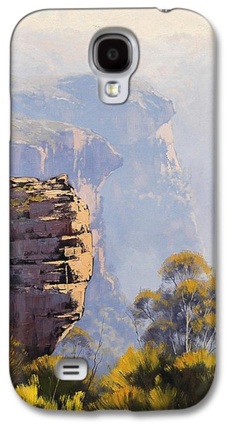 Sisters Paintings Galaxy S4 Cases - Hazy Cliff-scape Katoomba Galaxy S4 Case by Graham Gercken