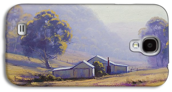 Shed Paintings Galaxy S4 Cases - Hazy Morning Galaxy S4 Case by Graham Gercken