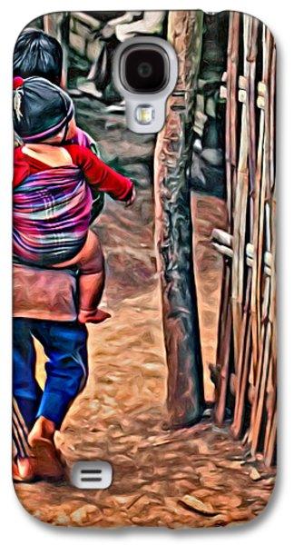 Bamboo Fence Galaxy S4 Cases - He Aint Heavy... Galaxy S4 Case by Steve Harrington