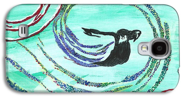 Angela Pelfrey Galaxy S4 Cases - He comes in the wind Galaxy S4 Case by Angela Pelfrey