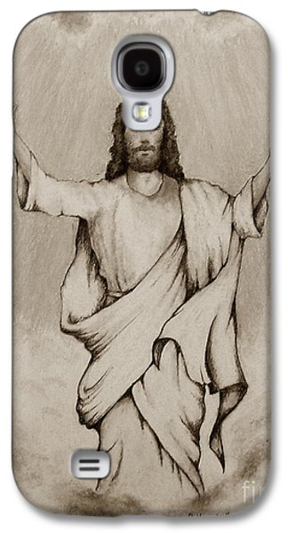 Bible Pastels Galaxy S4 Cases - He Is Risen Galaxy S4 Case by Catherine Howley