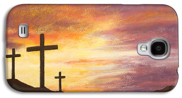 Bible Pastels Galaxy S4 Cases - He is Risen Galaxy S4 Case by Marna Edwards Flavell