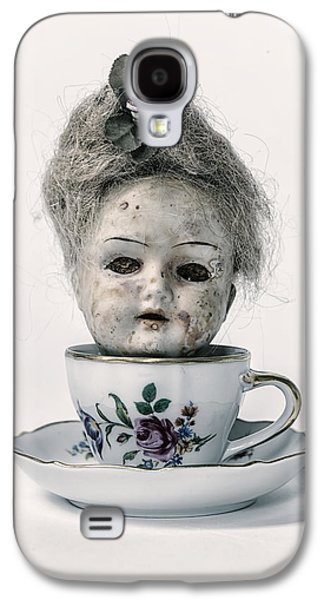 Creepy Galaxy S4 Cases - Head In Cup Galaxy S4 Case by Joana Kruse