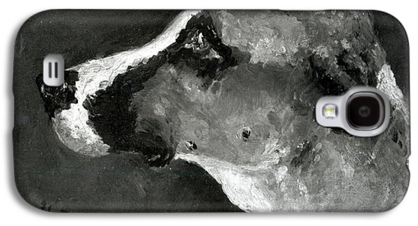 Impressionism Drawings Galaxy S4 Cases - Head of a Dog with Short Ears Galaxy S4 Case by Henri de Toulouse-Lautrec
