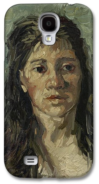 Prostitutes Paintings Galaxy S4 Cases - Head of a prostitute Galaxy S4 Case by Vincent van Gogh