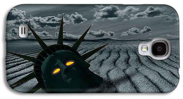 City Scene Galaxy S4 Cases - Head Of A Statue With A Broken Bridge Galaxy S4 Case by Panoramic Images