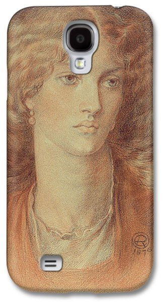 Gabriel Galaxy S4 Cases - Head of a Woman called Ruth Herbert Galaxy S4 Case by Dante Charles Gabriel Rossetti