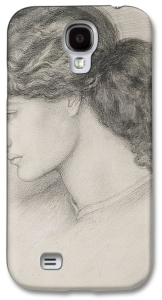 Portraiture Drawings Galaxy S4 Cases - Head Of A Woman Galaxy S4 Case by Dante Gabriel Charles Rossetti