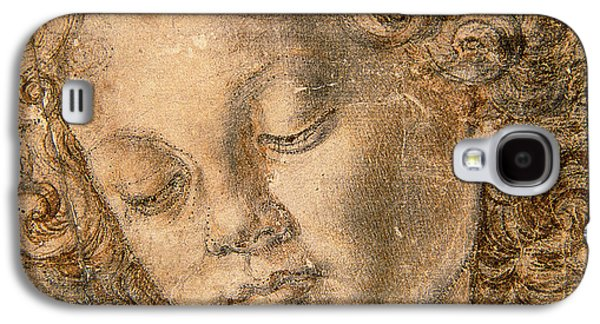 Portraits Pastels Galaxy S4 Cases - Head of an Angel Galaxy S4 Case by Andrea del Verrocchio