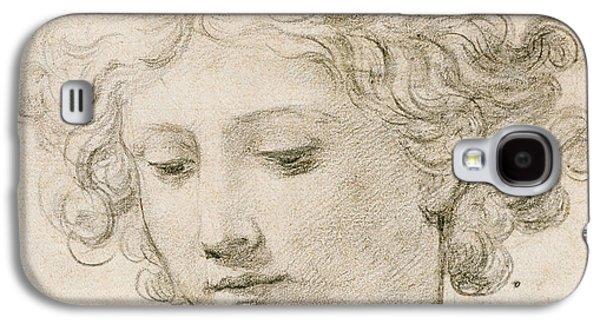Angels Drawings Galaxy S4 Cases - Head of an Angel Galaxy S4 Case by Pietro da Cortona
