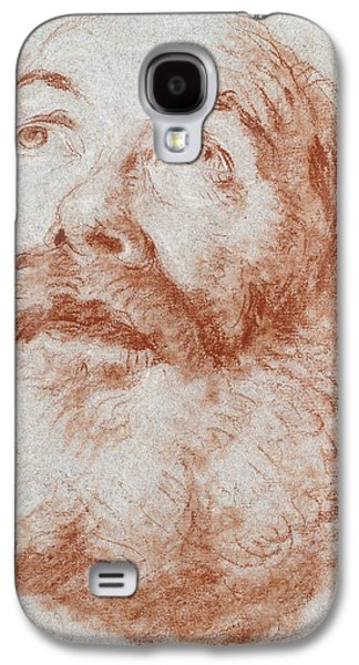Portraits Pastels Galaxy S4 Cases - Head of an Old Man looking up Galaxy S4 Case by Giovanni Battista Tiepolo