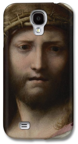 Jesus Photographs Galaxy S4 Cases - Head Of Christ, C.1530 Oil On Panel Galaxy S4 Case by Correggio