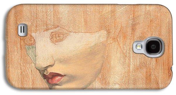 Head Drawings Galaxy S4 Cases - Head of Proserpine Galaxy S4 Case by Dante Gabriel Charles Rossetti