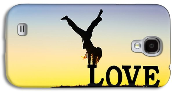 Affirmation Galaxy S4 Cases - Head over heels in Love Galaxy S4 Case by Tim Gainey