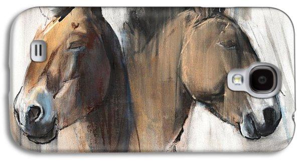 Wild Horse Paintings Galaxy S4 Cases - Head Study Galaxy S4 Case by Mark Adlington