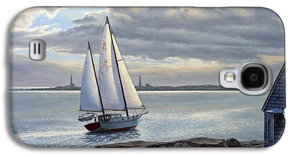 Harbor Paintings Galaxy S4 Cases - Heading Out-Close Hauled     Galaxy S4 Case by Paul Krapf