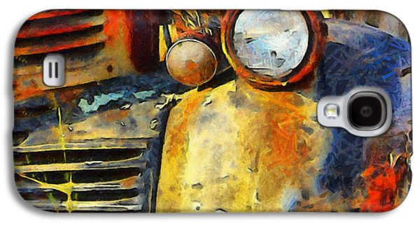 Old Western Photos Galaxy S4 Cases - Headlight On A Retired Relic Abstract Galaxy S4 Case by Barbara Snyder