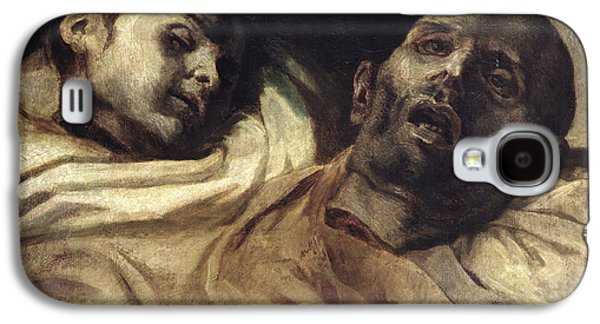 Heads Of Torture Victims, Study For The Raft Of The Medusa  Galaxy S4 Case by Theodore Gericault
