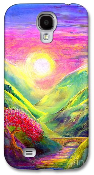 Abstract Nature Paintings Galaxy S4 Cases - Healing Light Galaxy S4 Case by Jane Small