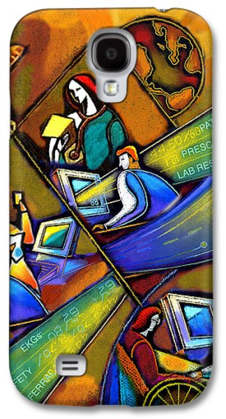 Cooperation Galaxy S4 Cases - Health care Technology Galaxy S4 Case by Leon Zernitsky